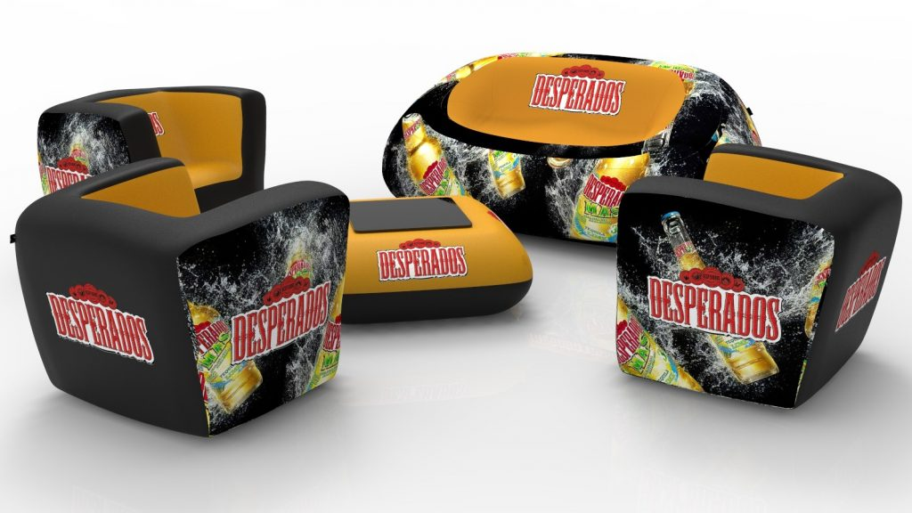 Inflatable furniture - Desperados inflatable sofa chair