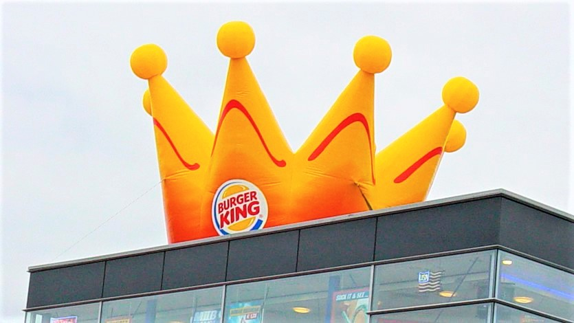 Opblaasbare reclame kroon - Publiair Burgerking Crown inflatable