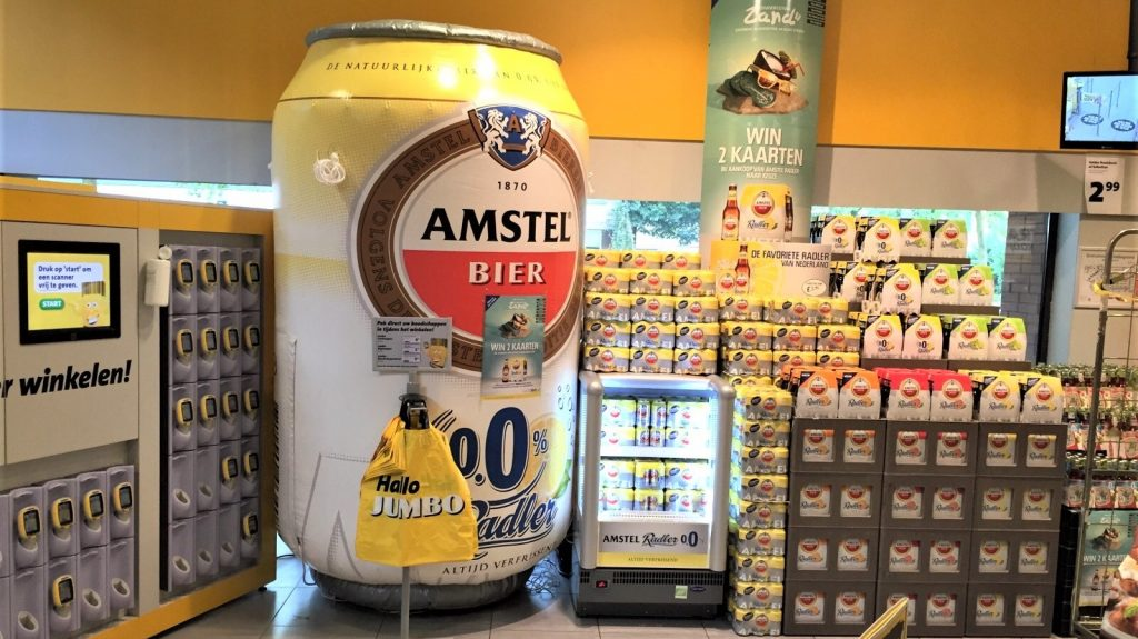 Opblaasbare blowups - Publi air Amstel Radler opblaasbaar blikje inflatable can - POS materiaal - retail displays, winkel displays, display reclame