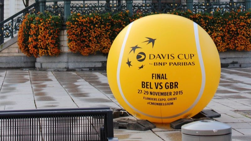 Opblaasbare blowups - Publi air- Davis Cup- crowd balls-Tennis- Events - Sports