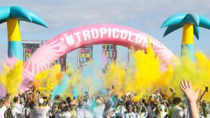 Opblaasbare boog - Publi air inflatable arch color-run - hardlopen - wedstrijd - match- festival