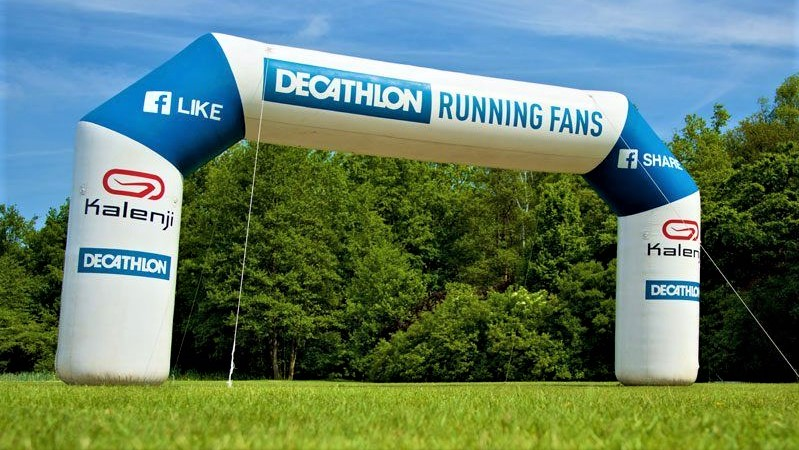 Opblaasbare boog - Publi air start en finish boog inflatable arch - Decathlon