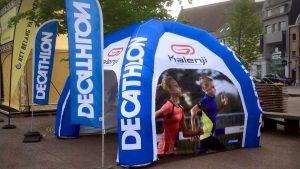 Opblaasbare kiosk - Publi air- Decathlon- Inflatable stand - Beurzen