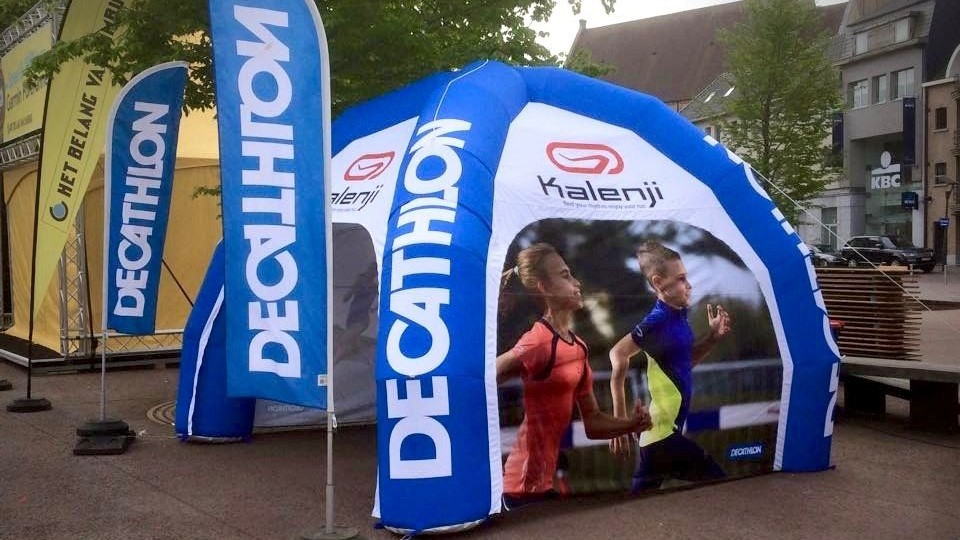 Opblaasbare kiosk - Publi air- Decathlon- Inflatable stand - Beurzen