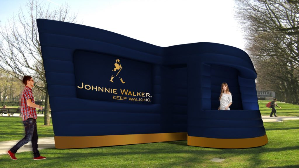 Opblaasbare kiosk - Publi air-Inflatable- Stand- Johnnie Walker