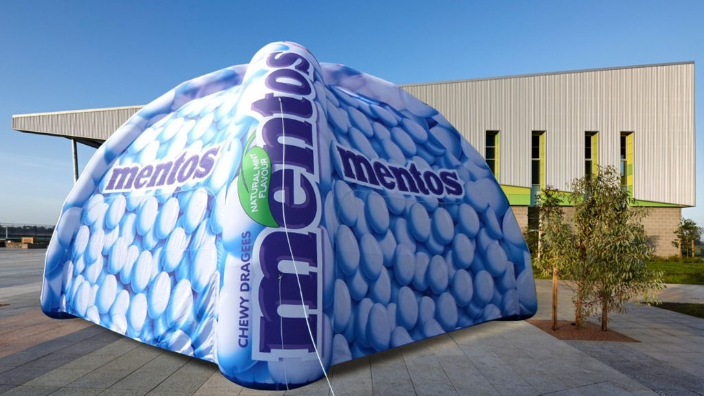 Opblaasbare tenten - Publi air - spintent inflatable spider tent - Mentos