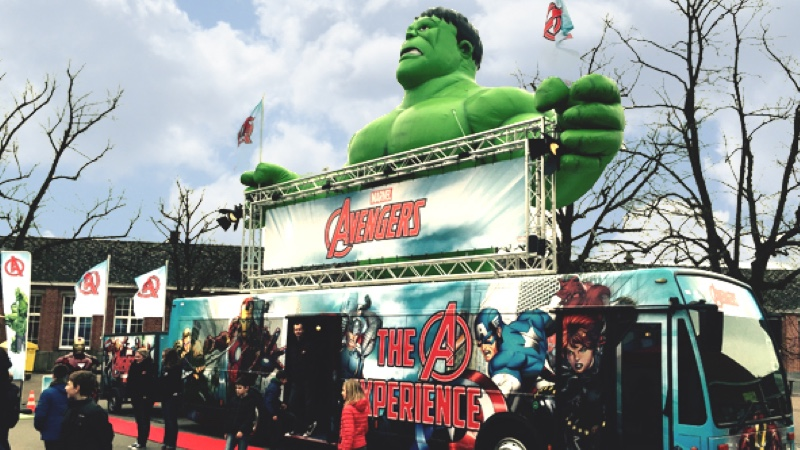 Opblaasbare reclame - inflatable advertising - Marvel - Publiair