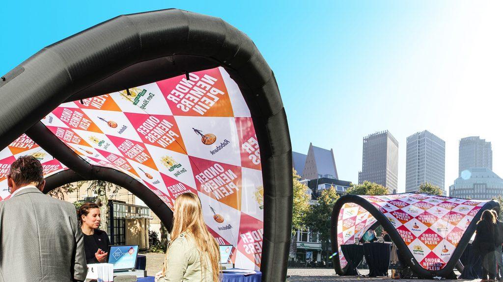 Signus-inflatable-pavilion-tent-den-haag-Rabobank - Publi air -Ondernemersplein