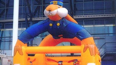 Vintage inflatable retro opblaasbaar spingkussen - NS - Publiair