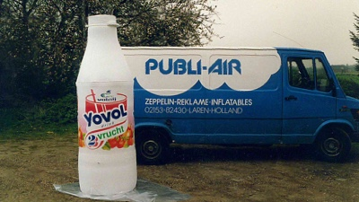 Vintage inflatable retro opblaasbare fles - Yovol - Publiair