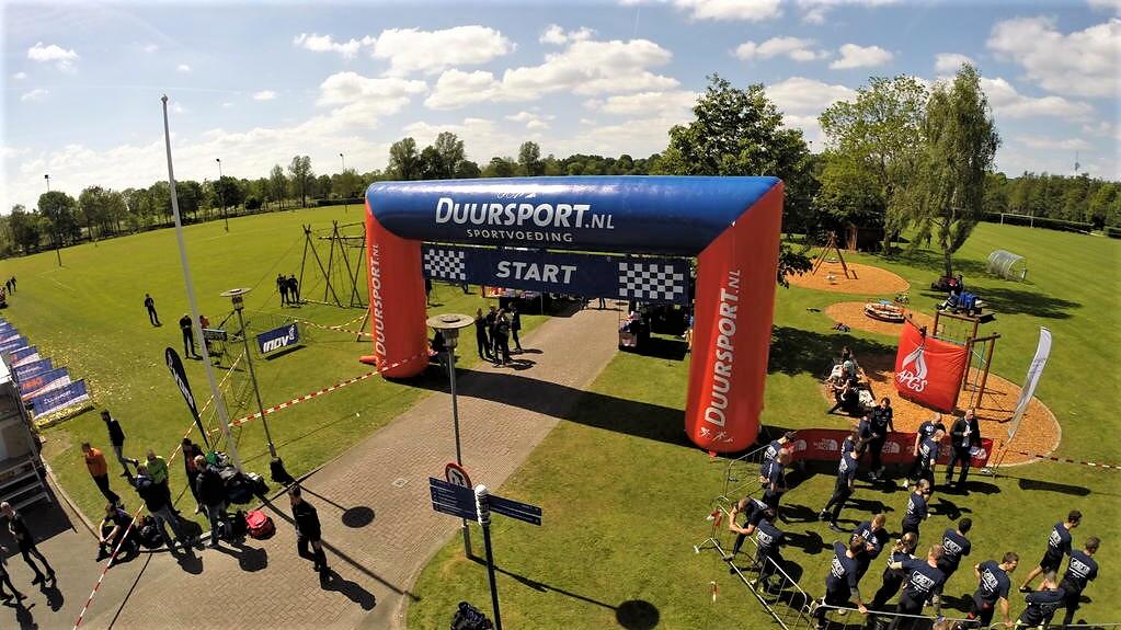 Opblaasbare boog - Publiair voor Duursport start finish boog hardlopen inflatable sport arch