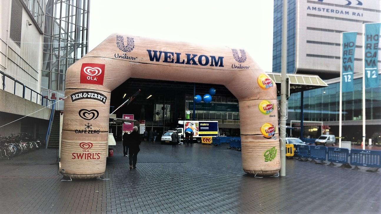 Opblaasbare entree boog - Publiair voor Unilever toegang boog poort inflatable arch