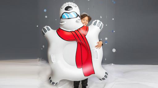 Inflatabel bear - snow - winter- sleigh publi air - opblaasbaar - sneeuw - snow fun - premium