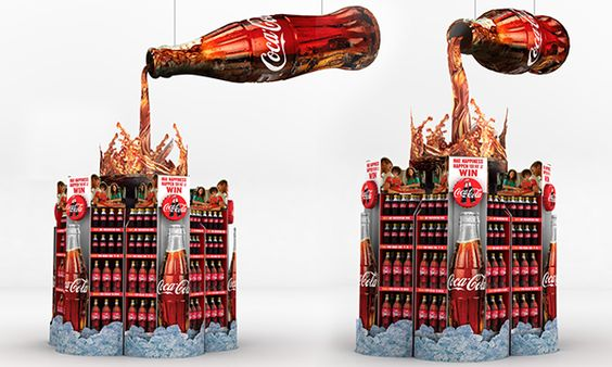 cocal cola display - retail- campange- publi air
