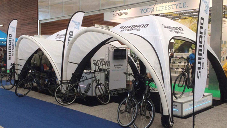Shimano opblaasbare pneumatische tenten sportmarketing – Publiair
