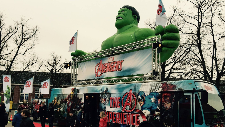Opblaasbare Hulk inflatable - Marvel Avengers Experience - activatie