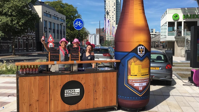 opblaasbare bierfles - Standsbrouwerij buitenbar