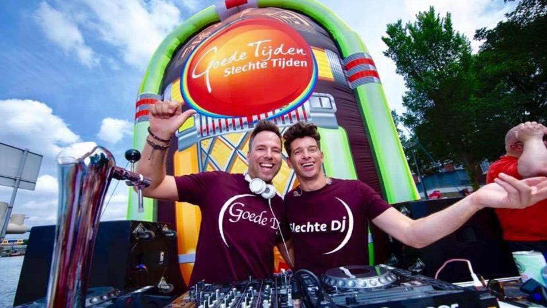 opblaasbare jukebox inflatable - Goede Tijden Slecht Tijden TV soap