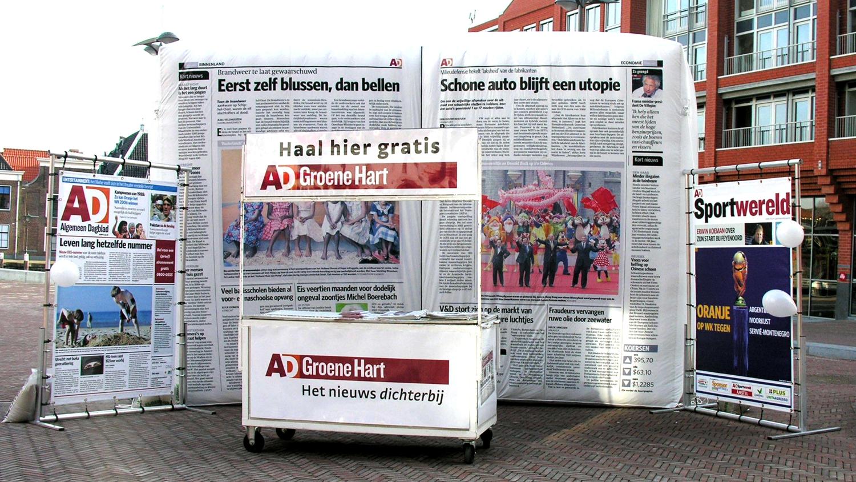 opblaasbare krant - AD merk activatie field marketing