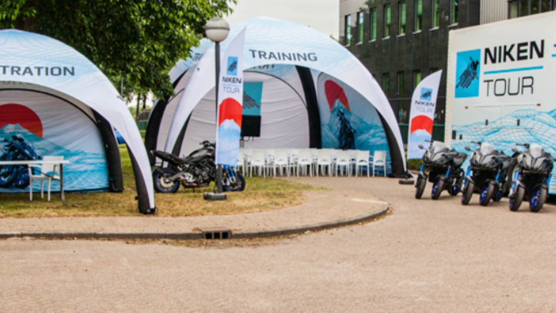 opblaasbare tenten - Niken Tour Yamaha - brand ativation