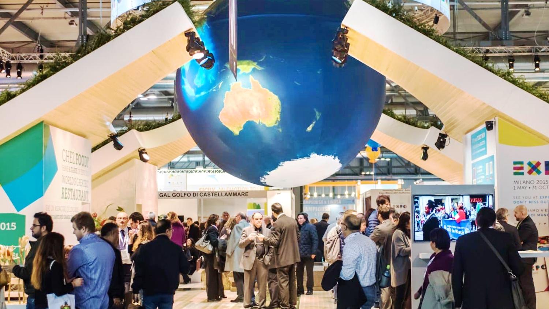 opblaasbare wereldbol planeet aarde - Expo beurs aankleding